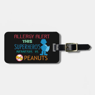 Peanut Allergy Superhero Alert Tag for Medical Kit