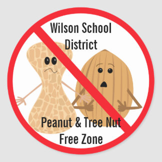 Peanut and Tree Nut Allergies Sticker
