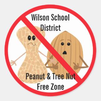 Peanut and Tree Nut Allergies Sticker