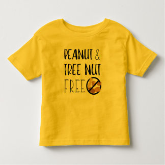 Peanut and Tree Nut Free Symbol Nut Allergy Alert Toddler T-shirt