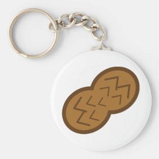 peanut basic round button keychain