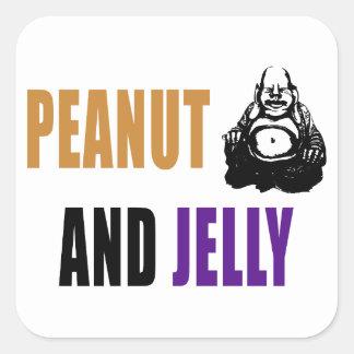 Peanut Buddha & Jelly Square Sticker