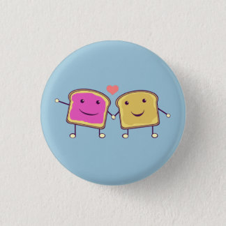 Peanut Butter and Jelly 1 Inch Round Button