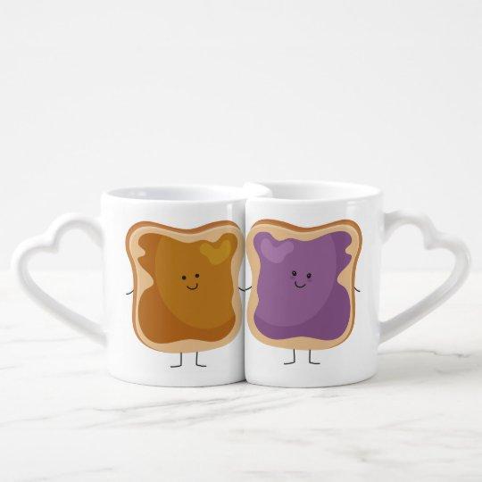 Peanut Butter and Jelly Coffee Mug Set