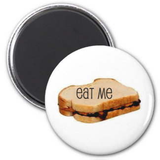 "Peanut Butter and Jelly ""EAT ME"" SANDWICH PRINT Magnet"