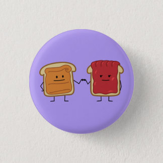 Peanut Butter and Jelly Fist Bump friends toast 1 Inch Round Button
