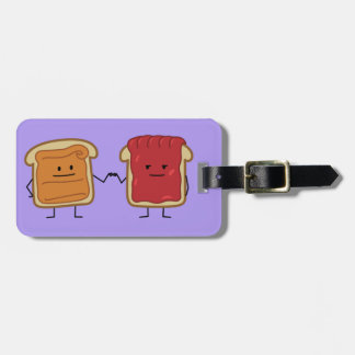 Peanut Butter and Jelly Fist Bump friends toast Luggage Tag