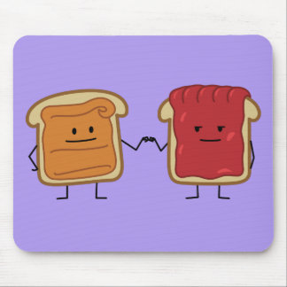 Peanut Butter and Jelly Fist Bump friends toast Mouse Pad