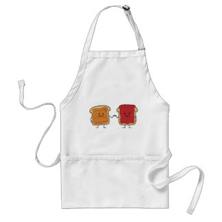 Peanut Butter and Jelly Fist Bump friends toast Standard Apron