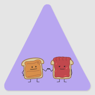 Peanut Butter and Jelly Fist Bump Triangle Sticker