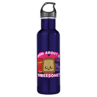 Peanut Butter and Jelly - How About A Threesome? 710 Ml Water Bottle