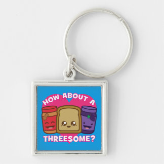 Peanut Butter and Jelly - How About A Threesome? Keychain