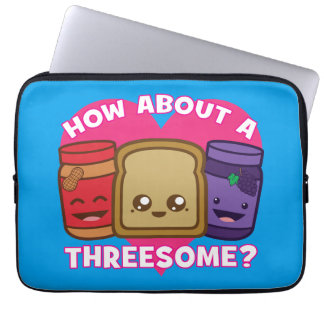 Peanut Butter and Jelly - How About A Threesome? Laptop Sleeve