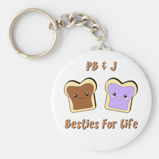 Peanut Butter and Jelly Keychain
