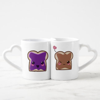 Peanut Butter and Jelly Love Coffee Mug Set