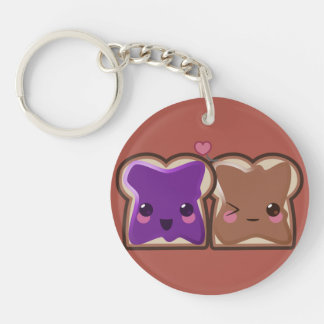 Peanut Butter and Jelly Love Keychain