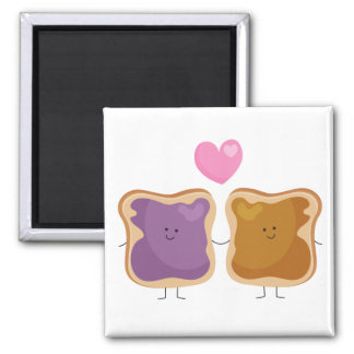 Peanut Butter and Jelly Love Magnet