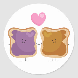 Peanut Butter and Jelly Love Stickers