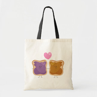 Peanut Butter and Jelly Love Tote Bag