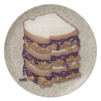 Peanut Butter and Jelly Sandwiches Plate