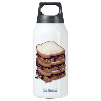 Peanut Butter and Jelly Sandwiches 10 Oz Insulated SIGG Thermos Water Bottle