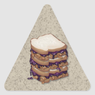 Peanut Butter and Jelly Sandwiches Triangle Sticker
