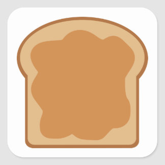 Peanut Butter Bread Slice Square Sticker
