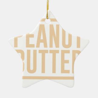 Peanut Butter Ceramic Ornament