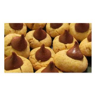 Peanut Butter Chocolate Drop Cookies Business Card Templates