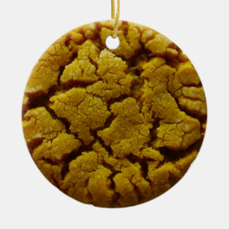 Peanut Butter Cookie Ceramic Ornament