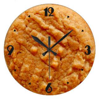 Peanut Butter Cookie, Tan Large Clock