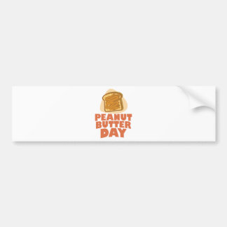 Peanut Butter Day - Appreciation Day Bumper Sticker