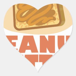 Peanut Butter Day - Appreciation Day Heart Sticker