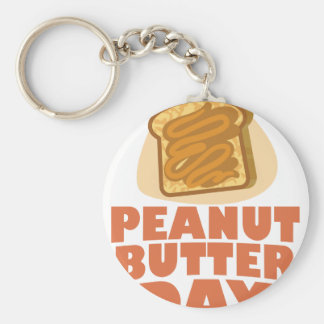 Peanut Butter Day - Appreciation Day Keychain