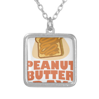Peanut Butter Day - Appreciation Day Silver Plated Necklace
