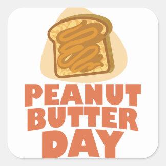 Peanut Butter Day - Appreciation Day Square Sticker