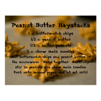 Peanut Butter Haystacks Postcard