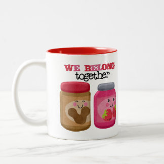 Peanut Butter & Jelly 11 oz Two-Tone Coffee Mug