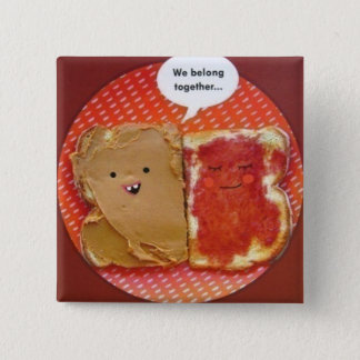 peanut butter jelly best friends 2 inch square button