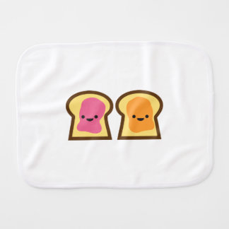 Peanut Butter Jelly Time Burp Cloth
