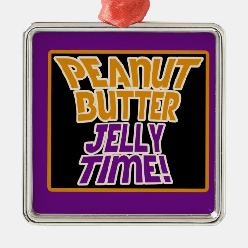 Peanut butter jelly time christmas ornament