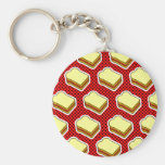 Peanut Butter Jelly Time - Strawberry Jelly Basic Round Button Keychain