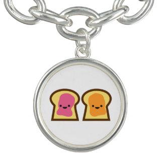 Peanut Butter & Jelly Toast Friends Charm Bracelet