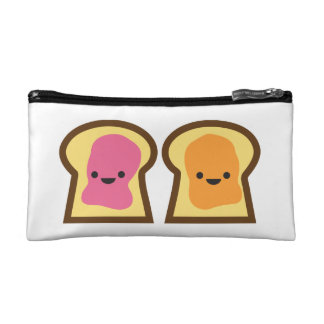 Peanut Butter & Jelly Toast Friends Cosmetic Bag