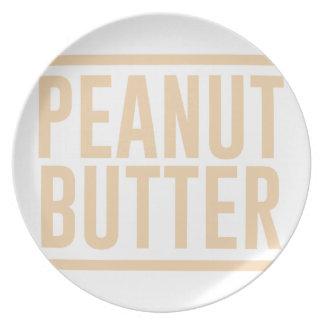 Peanut Butter Plate