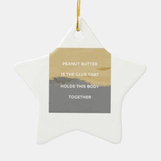 Peanut Butter Rules Ceramic Ornament