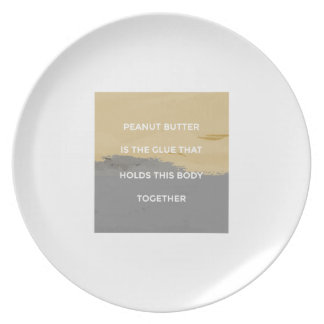 Peanut Butter Rules Plate