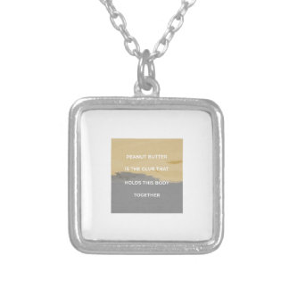 Peanut Butter Rules Silver Plated Necklace