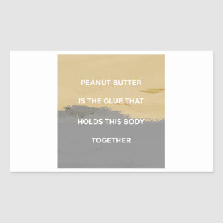 Peanut Butter Rules Sticker