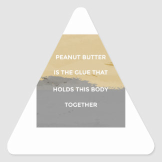 Peanut Butter Rules Triangle Sticker